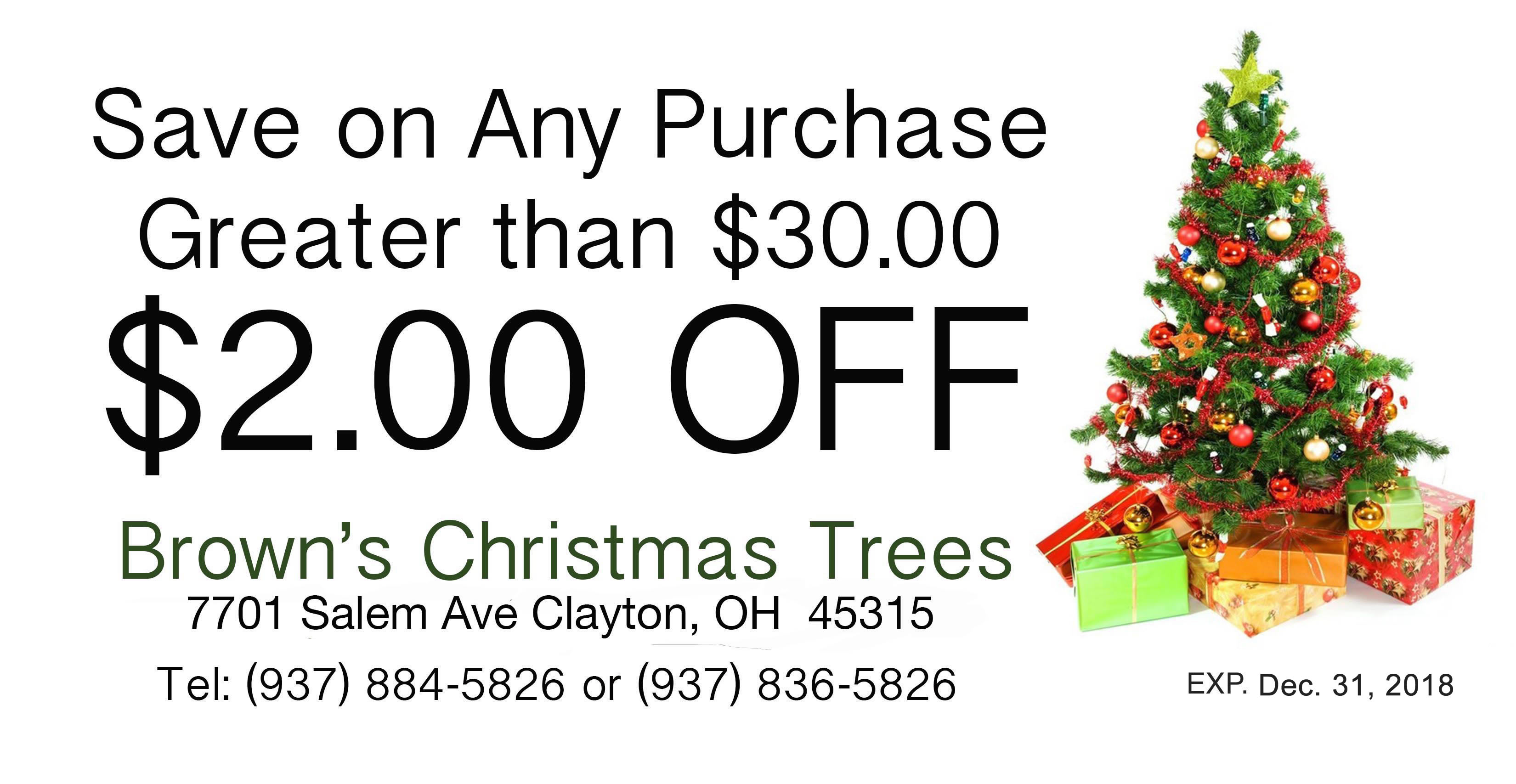Download the A. Brown and Sons Christmas Tree coupon